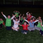 The young players enjoy the JJB sports games
