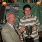 U16 Div 1 League Cup presented to Craig McKenna