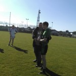 Captain Alan Hanks receives the Patrick Doyle memorial cup